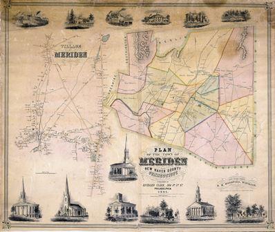 Plan of Meriden, 1851