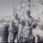 Rich Maderia and family at Blessing of the Fleet, Stonington