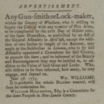 Advertisement for firearms, 1775