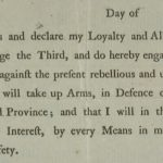 Oath of loyalty to King George