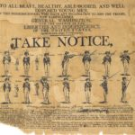 Broadside recruiting troops for Continental Army, 1775