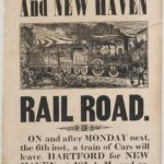 Hartford-New Haven railroad broadside