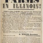 Broadside advertising Illinois farms, 1848