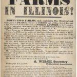 Broadside advertising Illinois farms, 1848