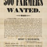 Broadside soliciting farmers for Indiana, 1847