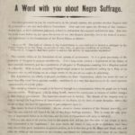 A word with you about Negro suffrage, 1869