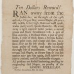 Advertisement regarding runaway slave, Woodstock, 1803