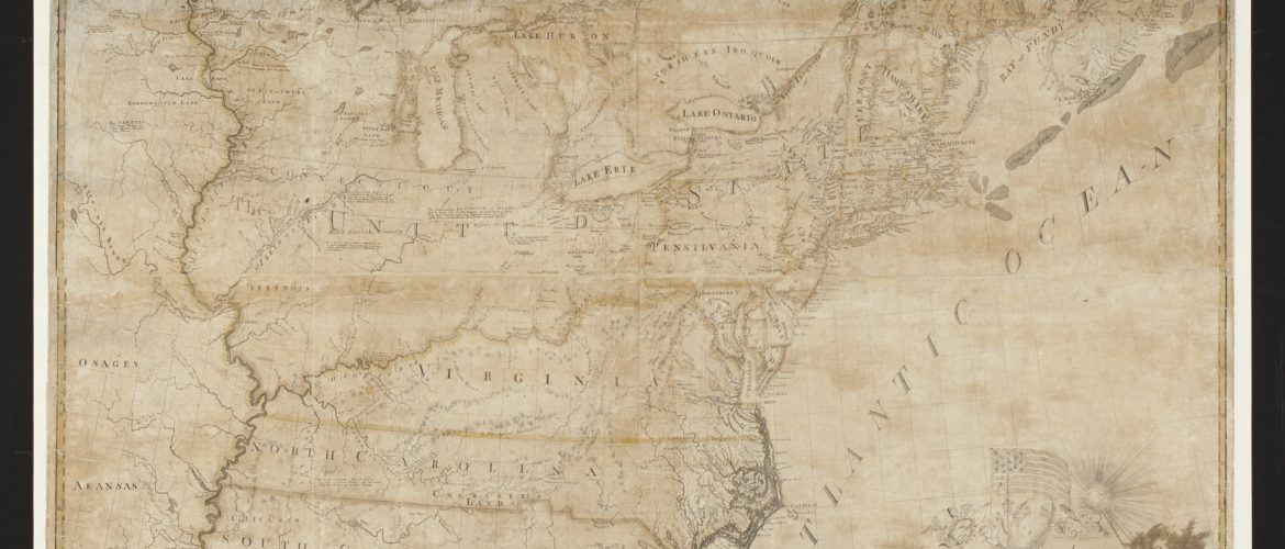 1784 map of United States