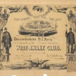 Hartford Wide-Awake Club membership certificate, 1860