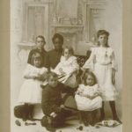 African-american woman with white children, Norwalk, ca. 1900