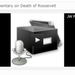 WIIC commentary on death of President Roosevelt, 1945