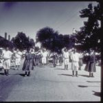 Parade with Portuguese dancers, Stonington, 1995