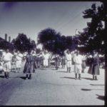 Parade with Portuguese dancers, Stonington, 1995