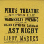 "Pike's Theatre ""Grand Patriotic Carnival,"" 1861"