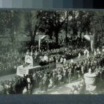 Russian Orthodox parade float, tercentenary celebration, Hartford, 1935