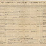 Connecticut Agricultural Station spraying calendar, ca. 1890s
