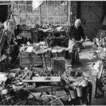 Alexander Calder in his studio, Roxbury, 1973