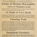 Auction, estate of Thomas McLaughlin, Hampton, 1906