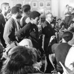 Black Caucus members meeting in Hartford, 1969