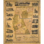 Map of the town of Canaan, 1853