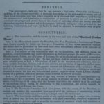 Constitution of the Hartford Trades Union, 1846