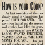 Advice to farmers to test corn before planing, 1910s