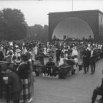 Crowd at concert at Colt Park bandshell, 1921