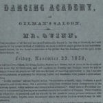 Dancing Academy at Gilman's Saloon, Hartford, 1850