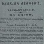 Dancing Academy at Gilman's Saloon, Hartford, 1850