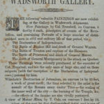 Paintings exhibition at the Wadsworth Gallery, 1844