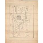 Map of Farmington and Avon, 1834-1835