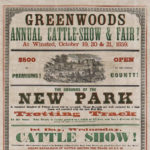 Greenwoods annual cattle show, Winsted, 1859