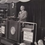 Harry Truman speaking from train platform, Hartford, 1952