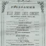 Programme of Mlle. Jenny Lind's concert, Hartford, 1851