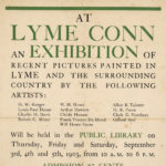 Exhibition of recent paintings, Lyme, 1903