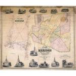 Plan of the town of Meriden, 1851