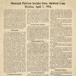 Municipal platform, Socialist party, Hartford, 1914