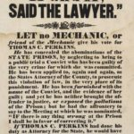 Broadside opposing election of Thomas C. Perkins, 1840s