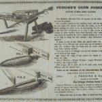 Perkins' corn husker saves tme and labor, East Killingly, 1856