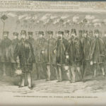 Procession of Wide-Awake Club, Hartford, 1860