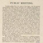 Public meeting, Hartford, 1856