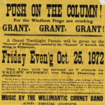 Push on the column, parade for Grant presidential candidicacy
