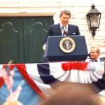 Ronald Reagan at Fairfield Town Hall, 1984
