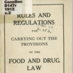 Rules and regulations for carrying out food and drug law, 1912