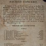 Program for a concert of sacred music, New London, early 1800s