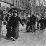 Suffragettes marching, 1910s?