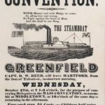 Broadside advertising Temperance Convention in Middletown, 1841