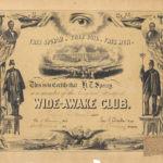 Wide-Awake certificate, Hartford, 1860