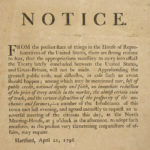 Meeting notice regarding treaty with Great Britain, 1796