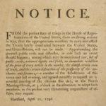 Meeting notice regarding treaty with Great Britain, 1796